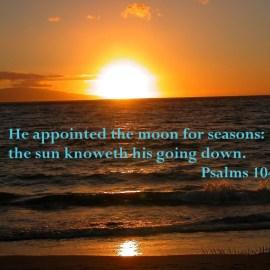 Psalms 104:19 Wallpaper