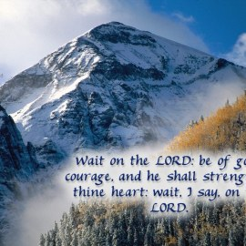 Psalms 27:14 Wallpaper