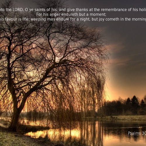 Psalms 30:4-5 christian wallpaper free download. Use on PC, Mac, Android, iPhone or any device you like.