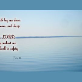 Psalms 4:8 Wallpaper