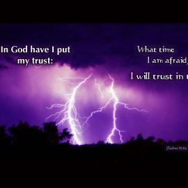 Psalms 56:11a & 3 Wallpaper
