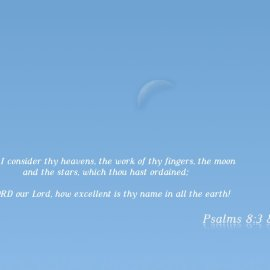 Psalms 8:3 & 9 Wallpaper
