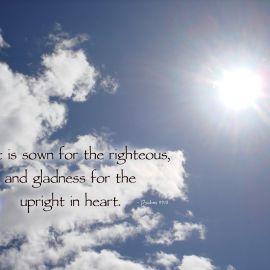 Psalms 97:11 Wallpaper