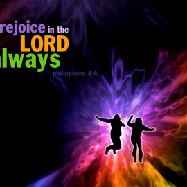 Rejoice in the Lord Wallpaper