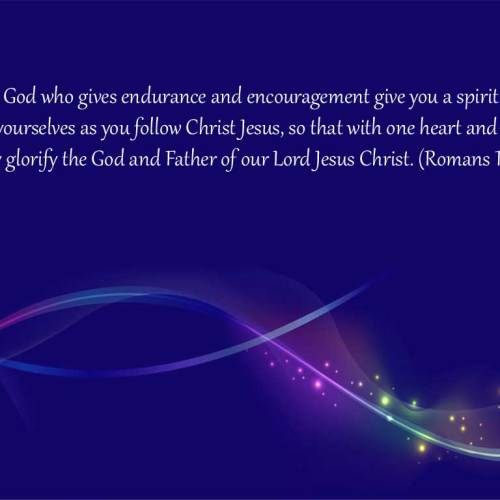 Romans 15:5-6 christian wallpaper free download. Use on PC, Mac, Android, iPhone or any device you like.