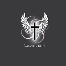 Romans 6:11 and Wings Wallpaper
