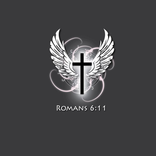 Romans 6:11 and Wings christian wallpaper free download. Use on PC, Mac, Android, iPhone or any device you like.
