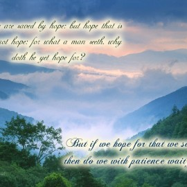 Romans 8:24-25 Wallpaper