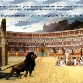 Romans 8:35 & Timothy 3:12 Wallpaper