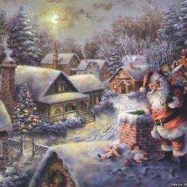 Santa and Christmas Wallpaper