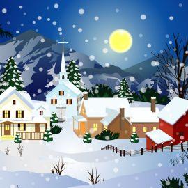 Snow and Christmas Wallpaper