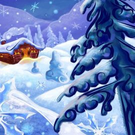 Snow, House, Christmas Wallpaper