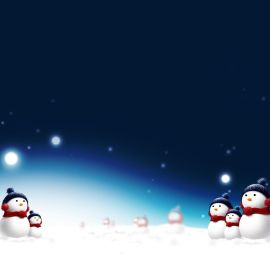 Snow man and Christmas Wallpaper
