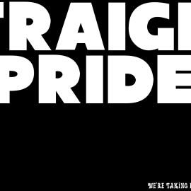 Straight Pride – Black & White Wallpaper