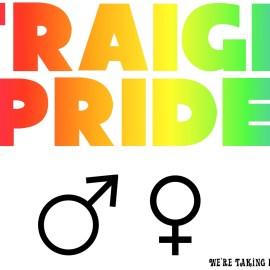 Straight Pride – White Wallpaper