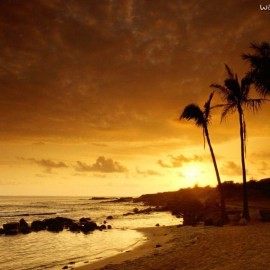 Sunset on Kauai Wallpaper