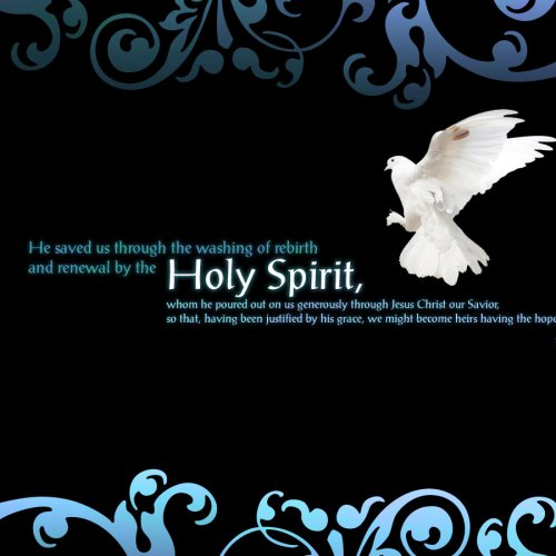 Titus 3:5-7 christian wallpaper free download. Use on PC, Mac, Android, iPhone or any device you like.