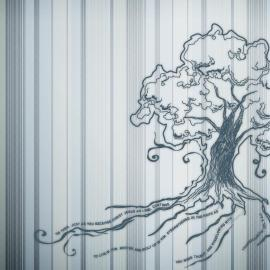 Tree blue Wallpaper