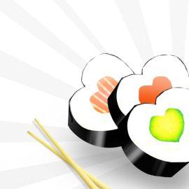 Valentine…sushi! Wallpaper