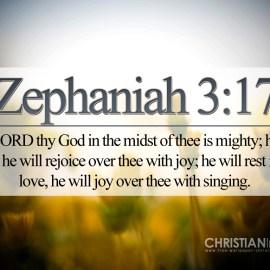Zephanian 3:17 Wallpaper