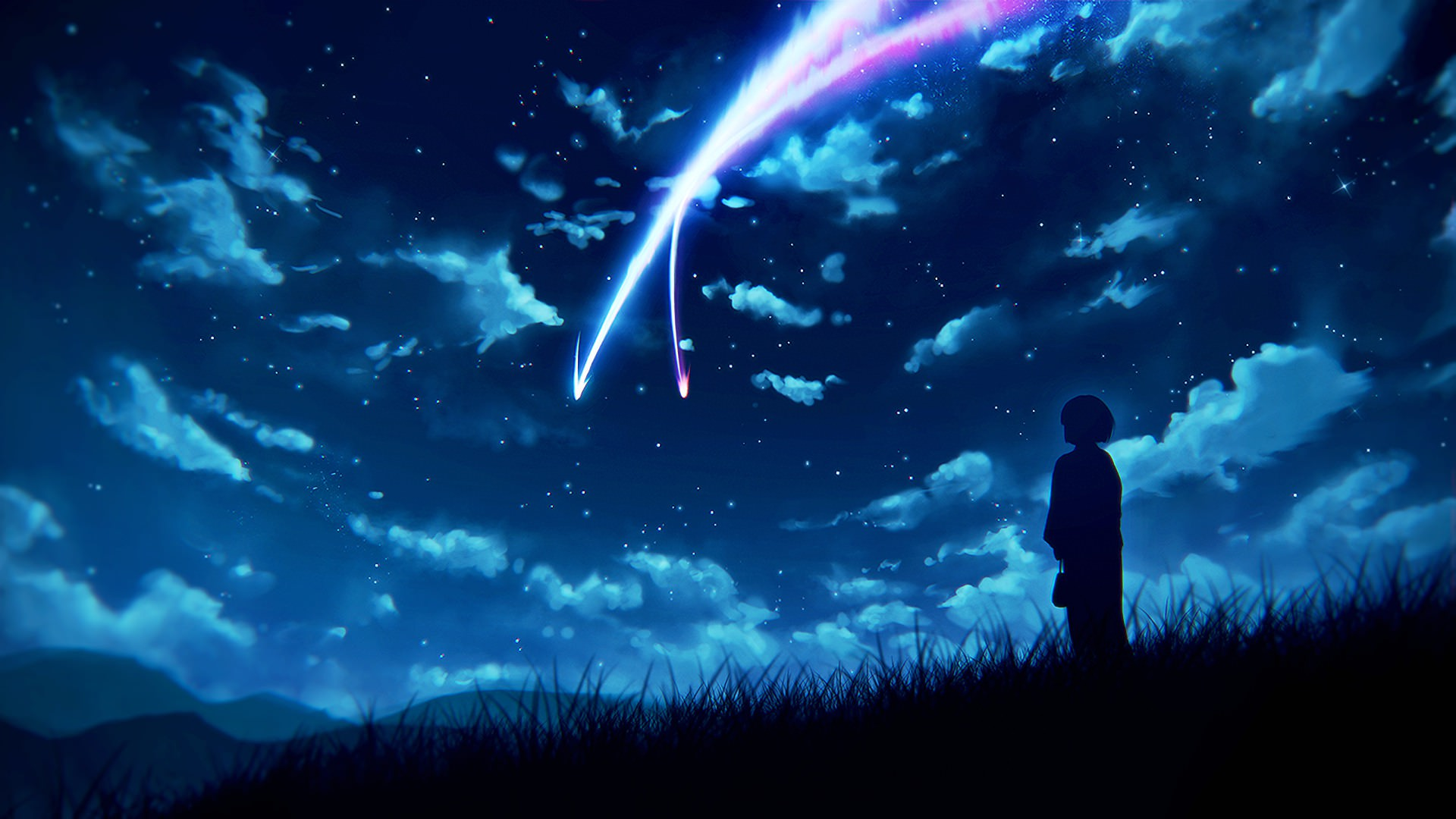 Sky Anime Anime Night Scenery Wallpapers Top Free Anime Night Scenery