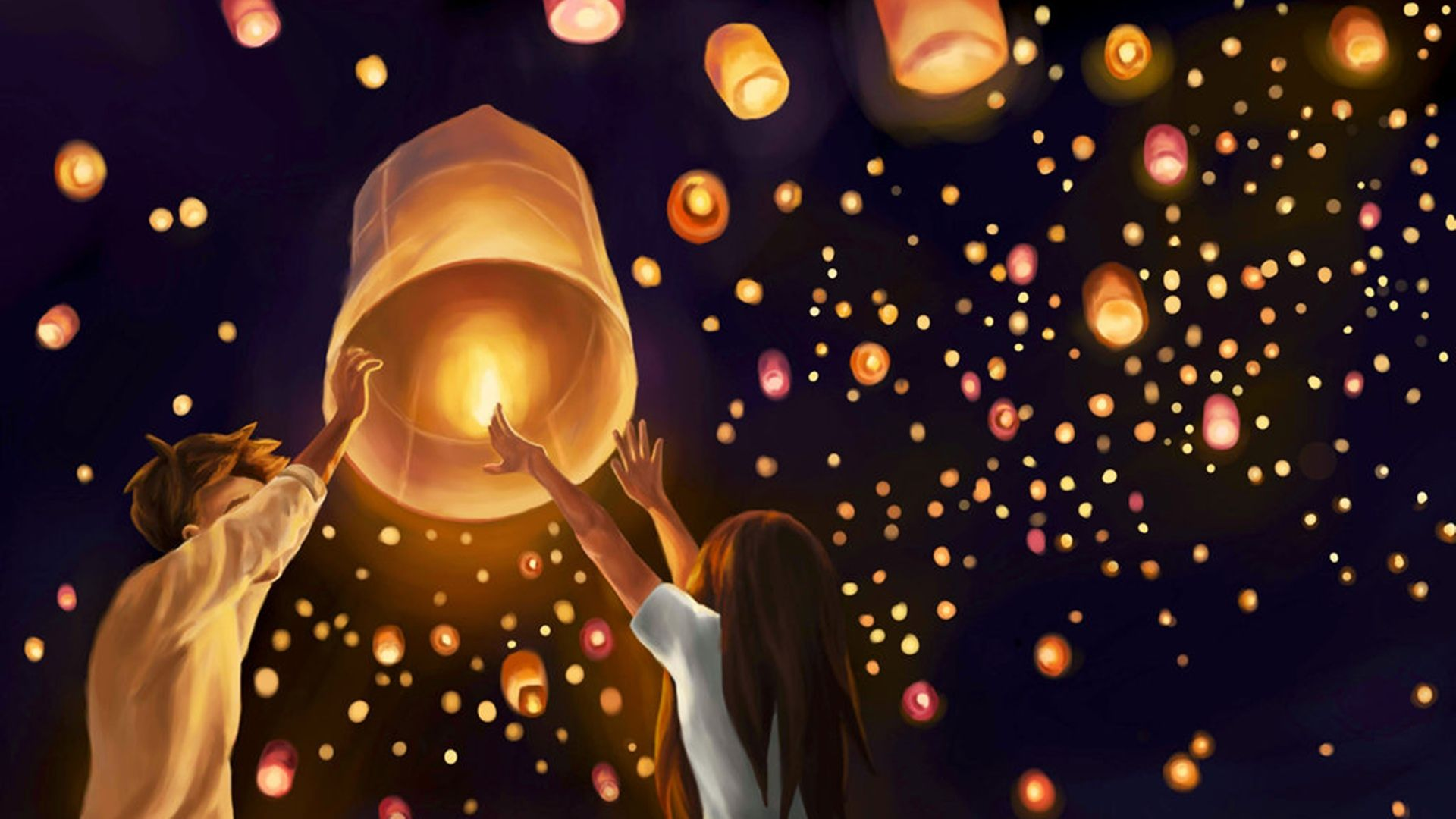 Sky Lantern Wallpapers Top Free Sky Lantern Backgrounds Wallpaperaccess