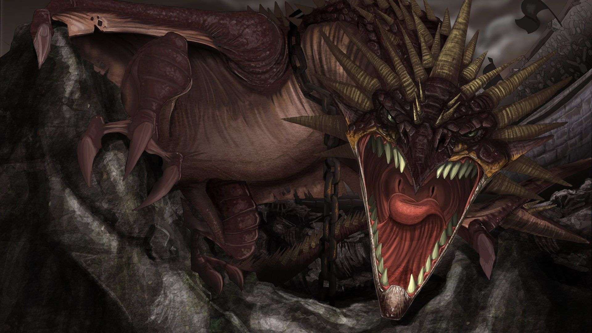 Scary Little Girl Wallpaper Scary Dragon Wallpapers Top Free Scary Dragon