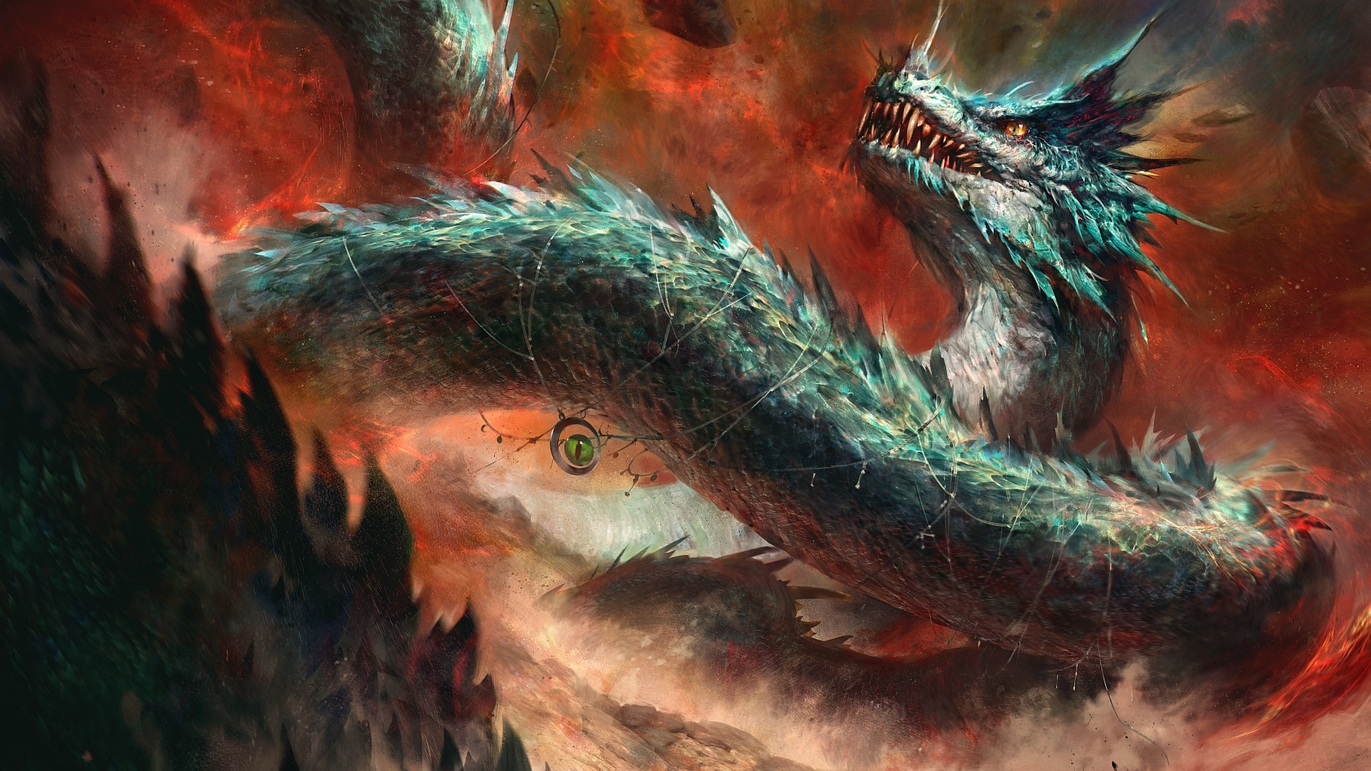 Fantasy World Art Dragon Dragon Digital Art Creature Fantasy Art Wallpaper