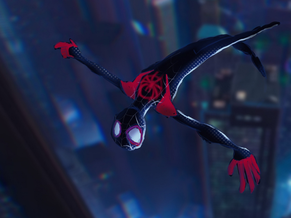 Fall Wallpaper Hd For Galaxy S4 Miles Morales Dive Spider Man Into The Spider Verse