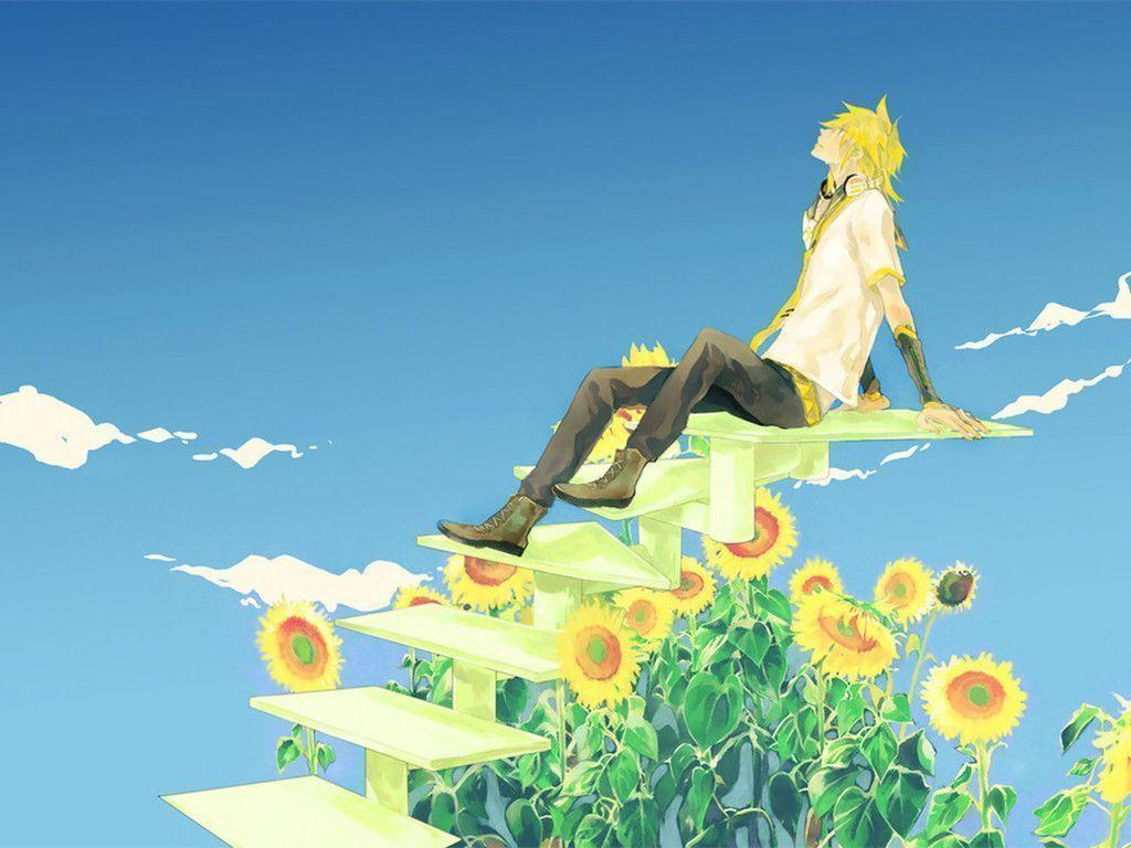 Cute Chibi Anime Wallpapers Len Kagamine Wallpapers Wallpaper Cave