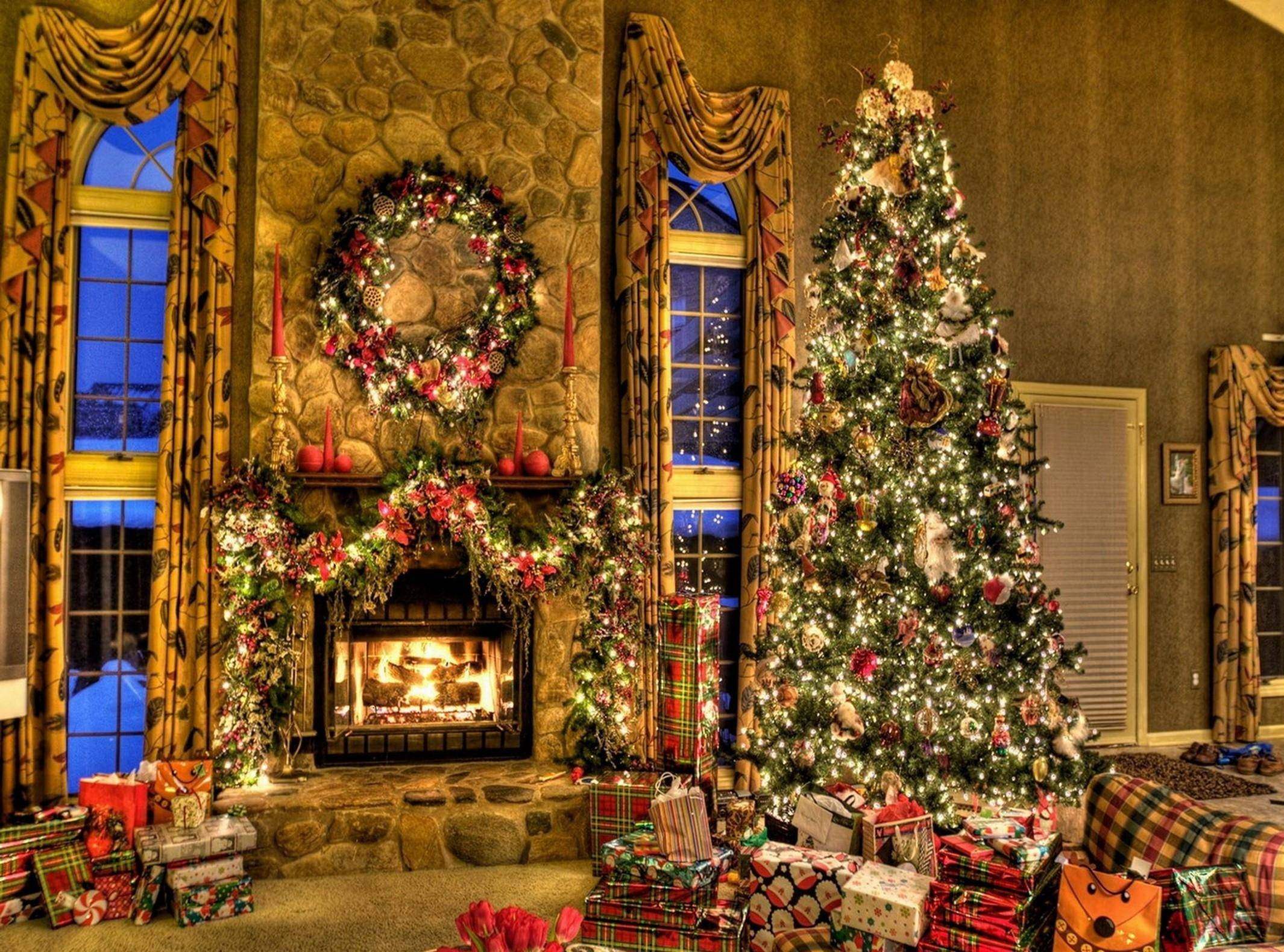 Christmas Fireplace Wallpaper Free Christmas Fireplace Wallpapers Wallpaper Cave