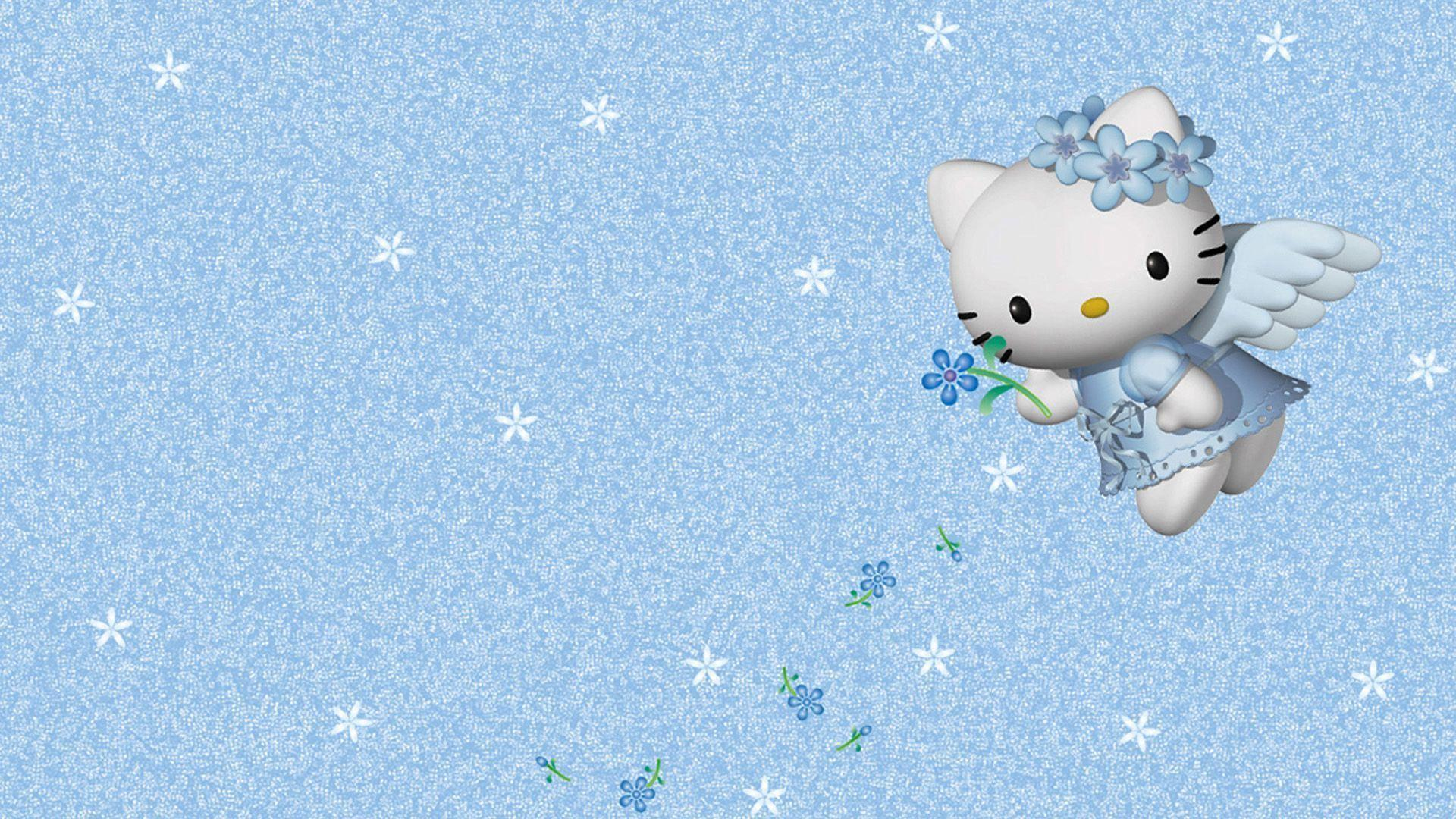 Cute Blue Hello Kitty Wallpapers For Android Blue Hello Kitty Wallpapers Wallpaper Cave