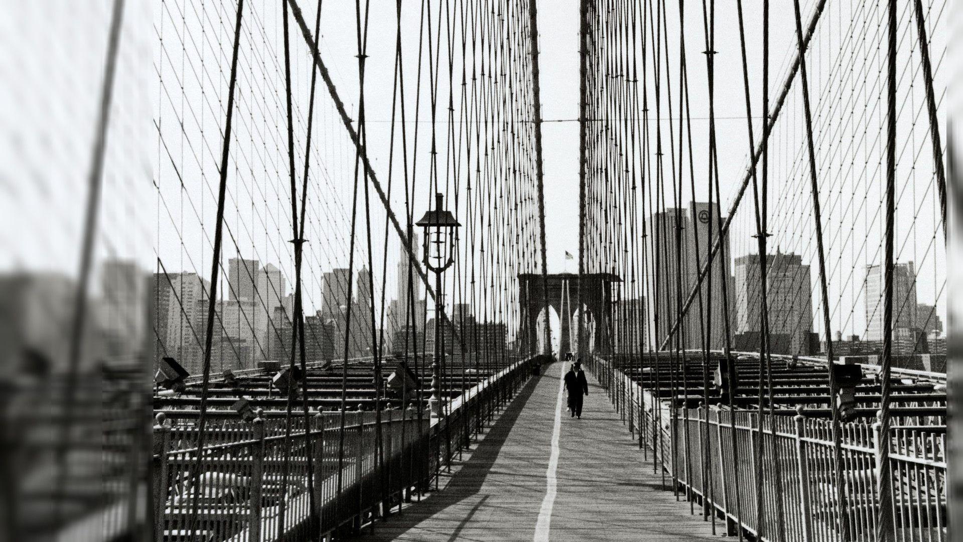 Brooklyn Bridge Wallpaper Black And White New York Wallpapers Desktop Wallpaper Cave