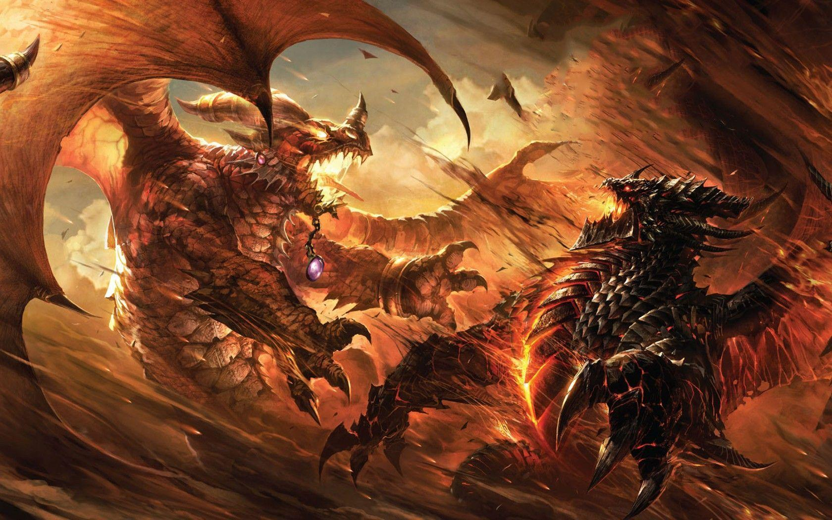 Fantasy World Art Dragon Fire Dragon Wallpapers Wallpaper Cave