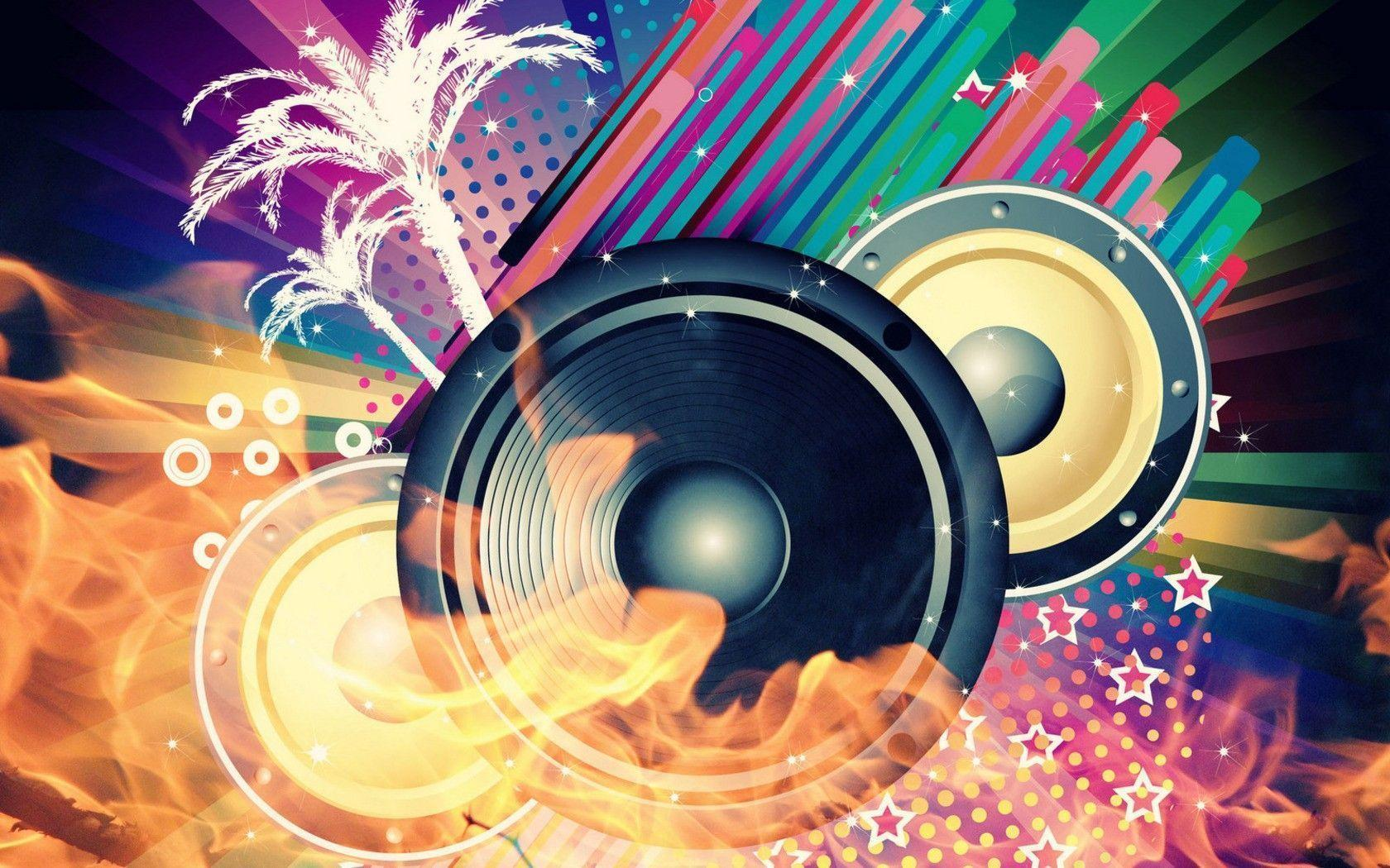 Cool Music Speakers Abstract Music Wallpapers Wallpaper Cave