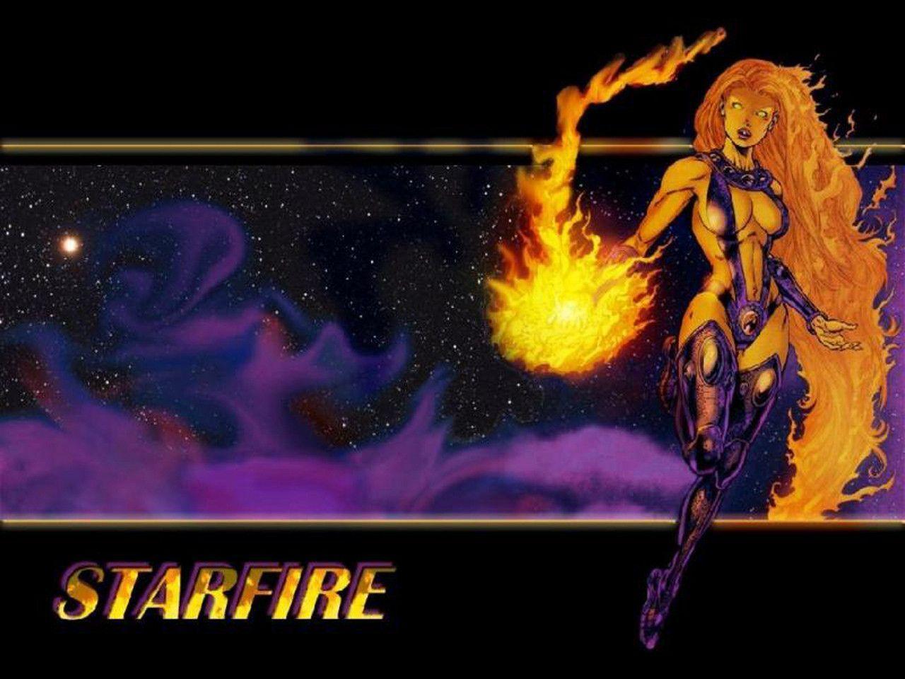 Teen Titans Cute Wallpaper Starfire Wallpapers Wallpaper Cave