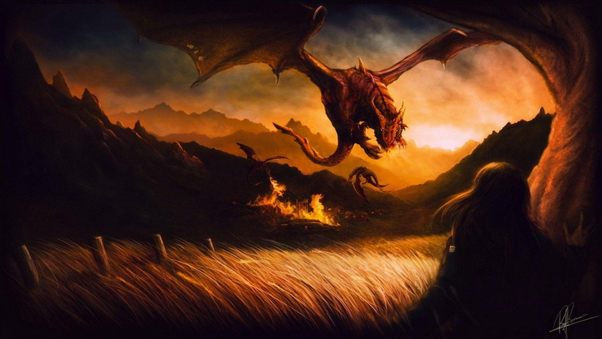 Fantasy World Art Dragon Fantasy Dragon Wallpapers Wallpaper Cave