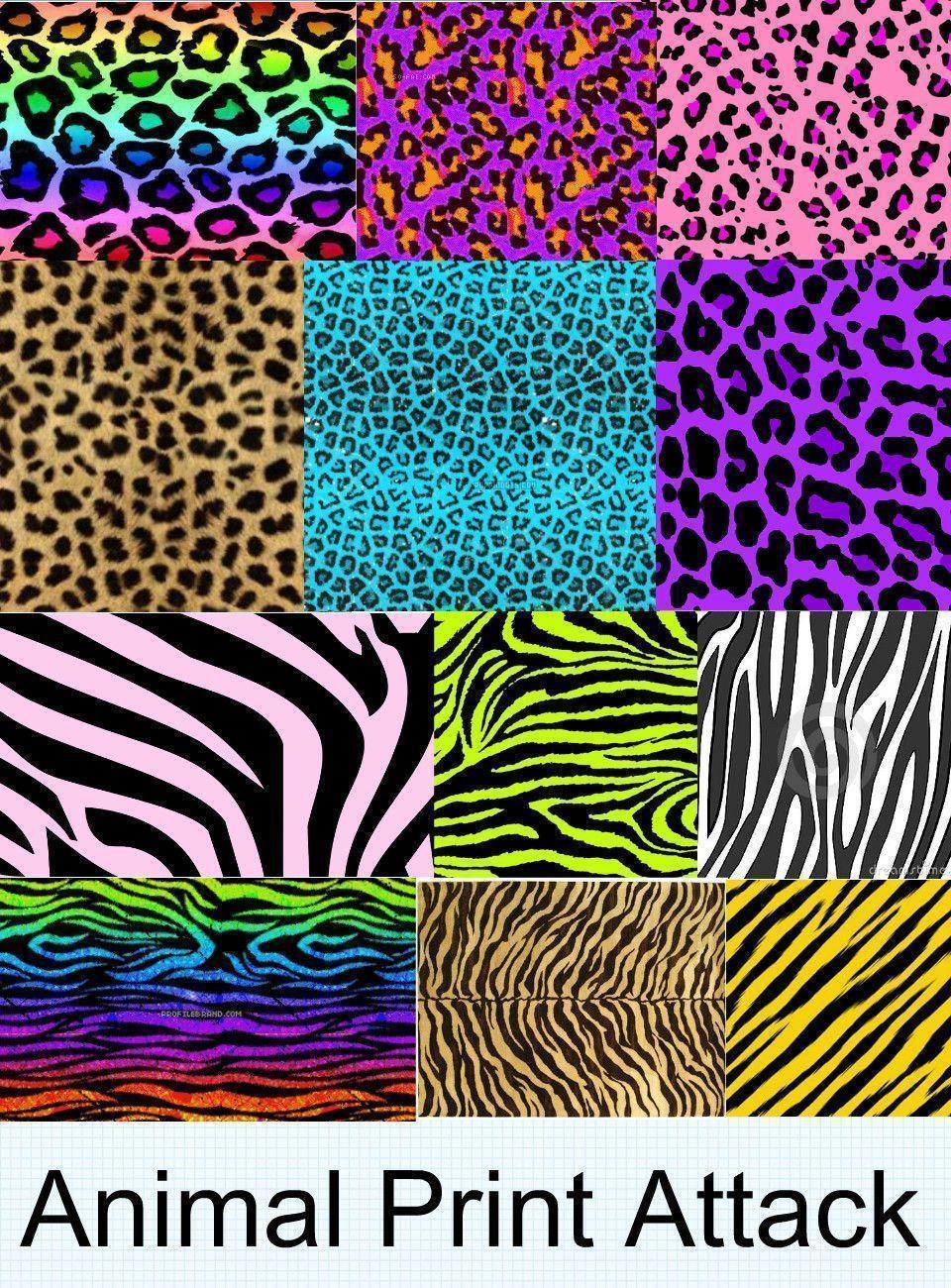 Neon Animal Print Wallpaper Animal Print Desktop Backgrounds Wallpaper Cave