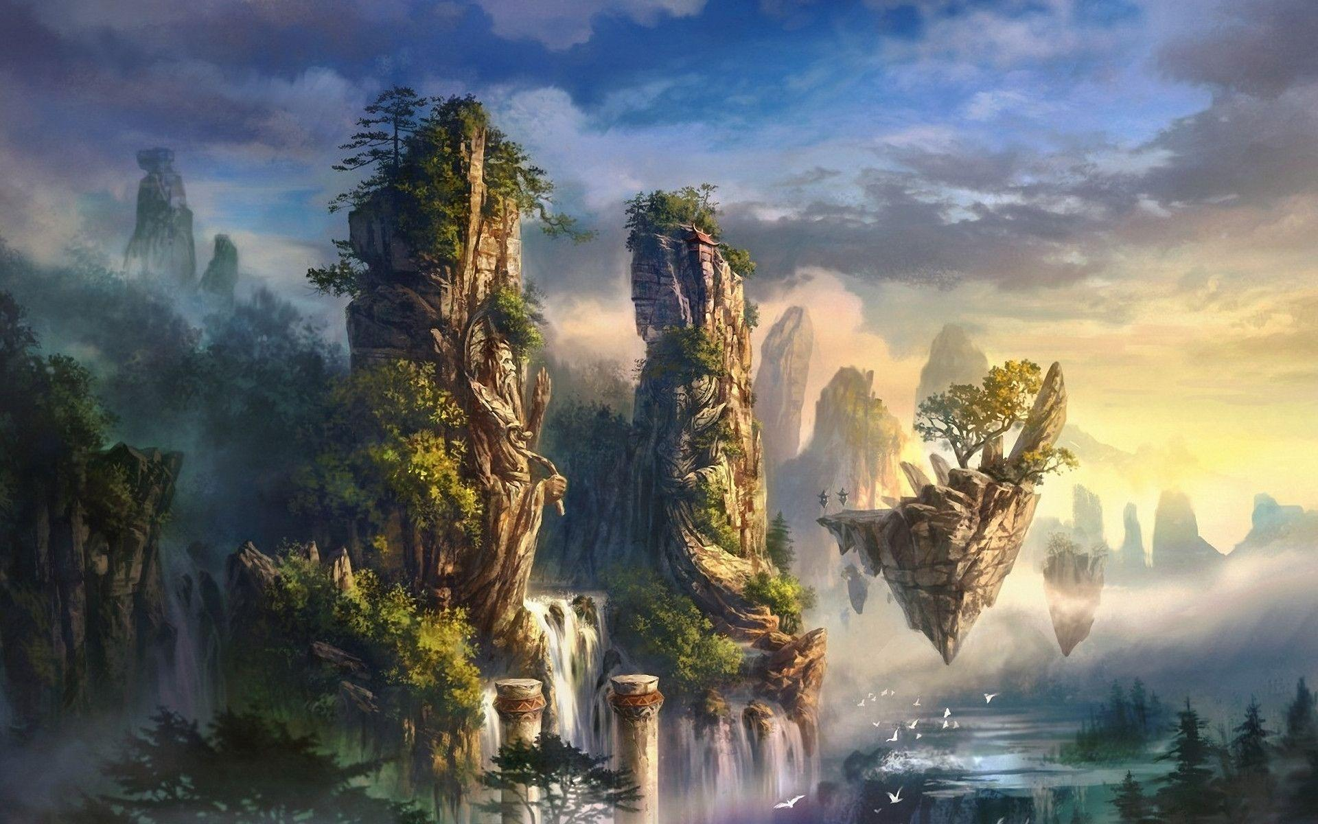 Fantasy World Art Dragon Fantasy World Wallpapers Wallpaper Cave
