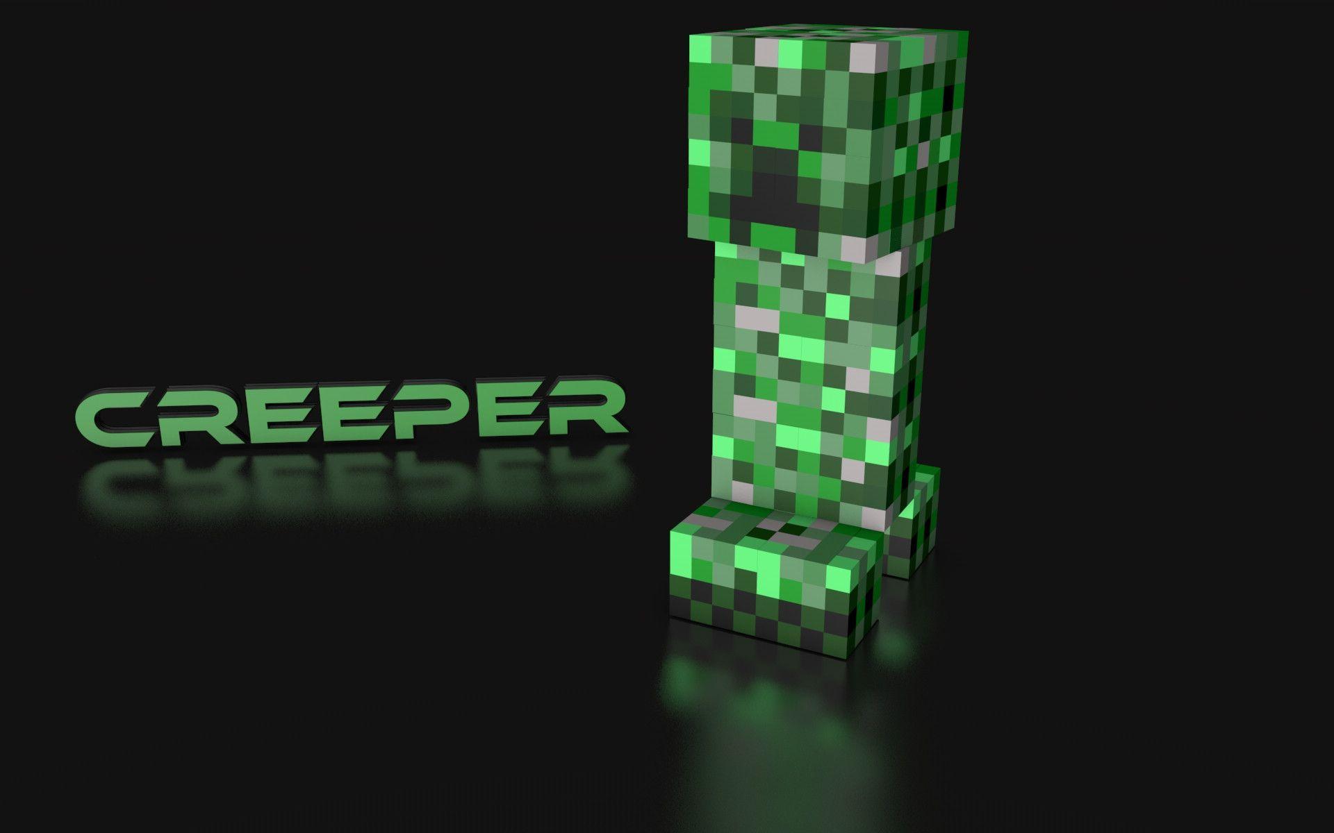 Minecraft Wallpaper 3d Herobrine Minecraft Creeper Wallpapers Wallpaper Cave