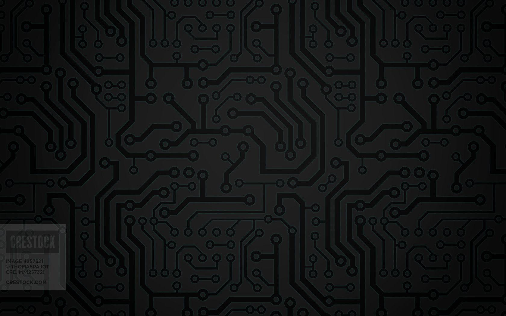 black circuit background