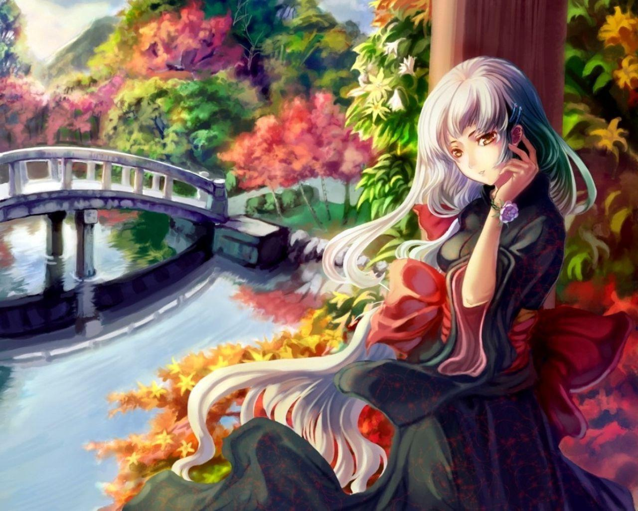 Kimono Anime Girl Android Wallpaper Beautiful Anime Wallpapers Wallpaper Cave