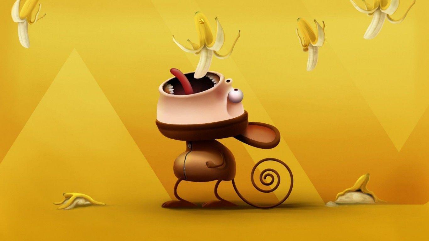 Cute Monkey Wallpaper Desktop Cartoon Monkey Wallpapers Wallpaper Cave