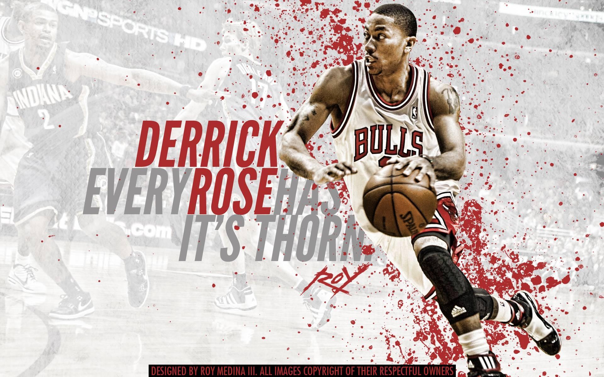 Cool Quotes Wallpapers For Desktop Derrick Rose Logo Wallpapers Wallpaper Cave