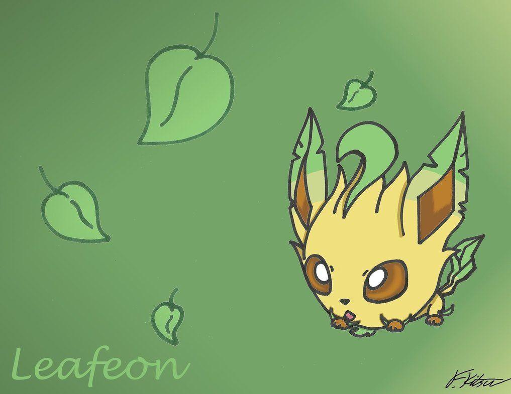 Cute Chibi Anime Wallpapers Leafeon Wallpapers Wallpaper Cave