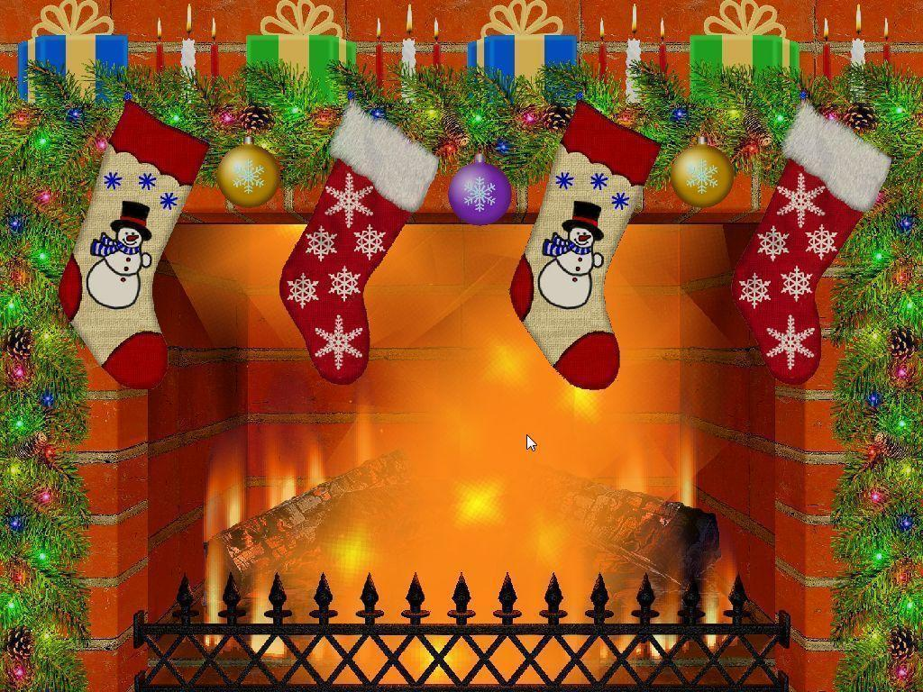 3d Xmas Live Wallpaper Christmas Fireplace Backgrounds Wallpaper Cave