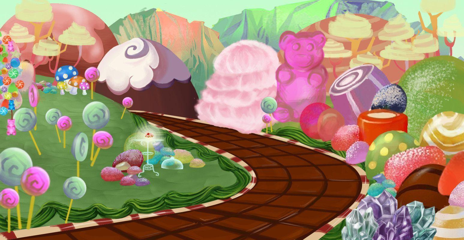 Wallpaper Cupcake Cute Candyland Backgrounds Wallpaper Cave