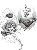 Chicano Art Drawings Roses With Hearts