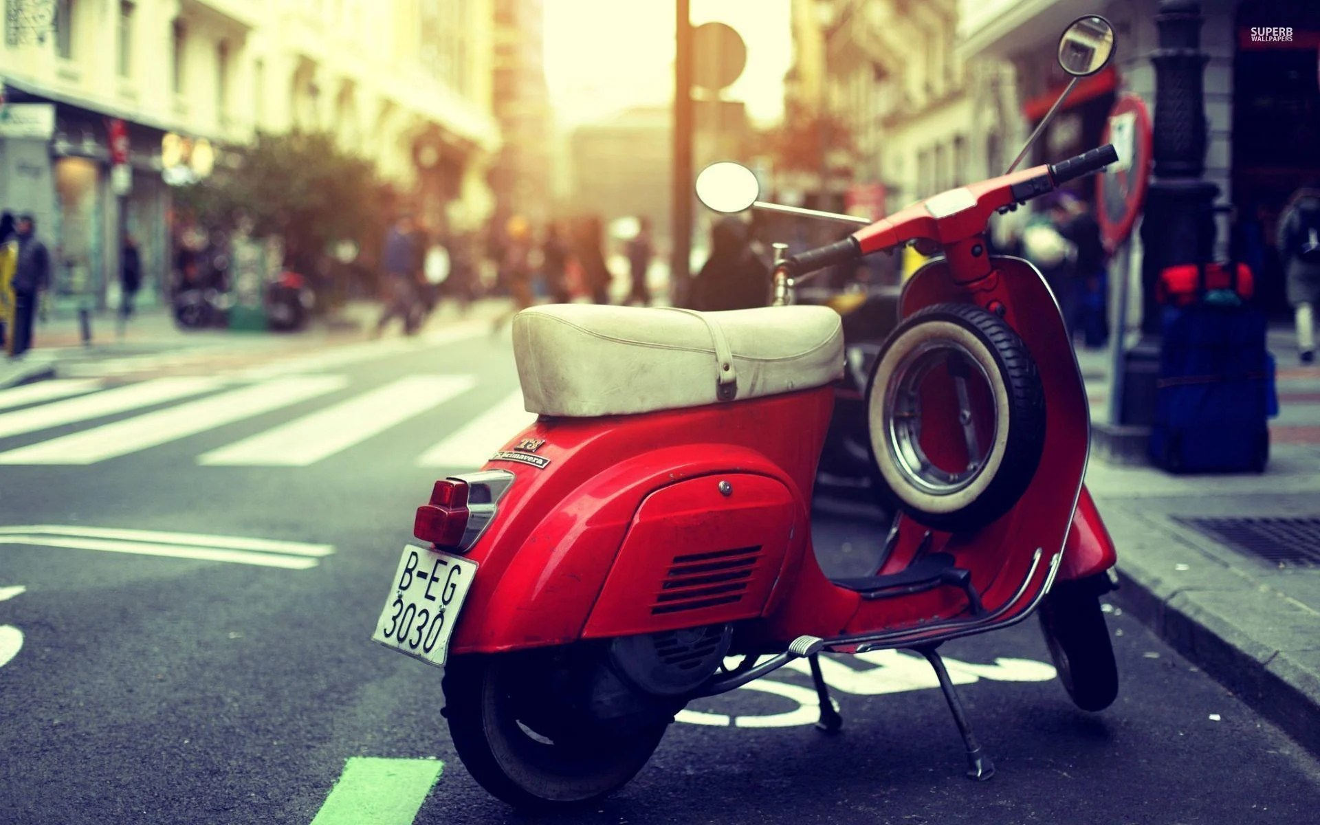 Wallpaper Klasik Keren Vespa Wallpapers Wallpaper Cave
