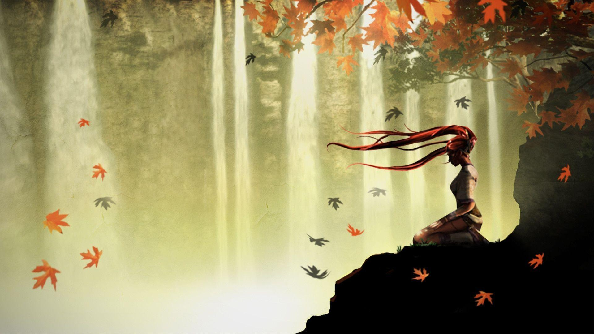 Falling Leaves Live Wallpaper For Android Heavenly Sword Wallpapers Hd Wallpaper Cave